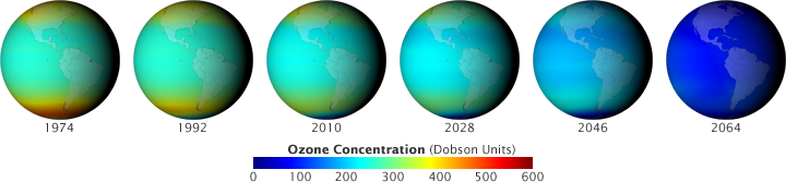 Images of ozone depletion based on computer models of a world avoided.