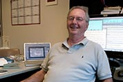 Photograph of Rich Stolarski in his office.