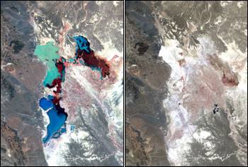 1976 and 2001 satellite images