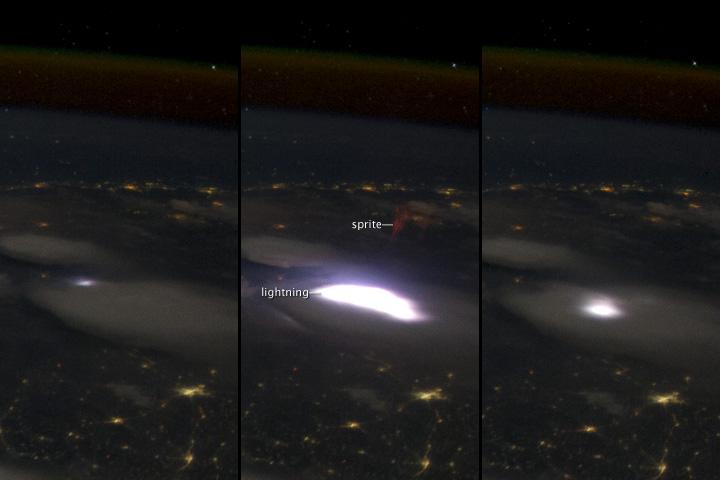 ISS031-E-10712 (red sprite, 2012)