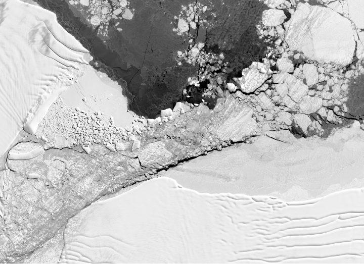 Famous Rectangular Iceberg's Rough Journey