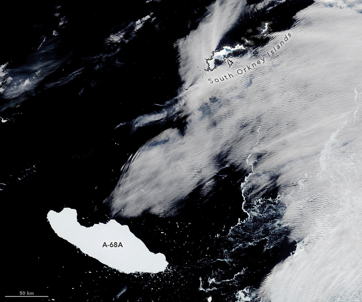 Najväčší ľadovec na svete A-68 zrejme započal svoju plavbu smrti