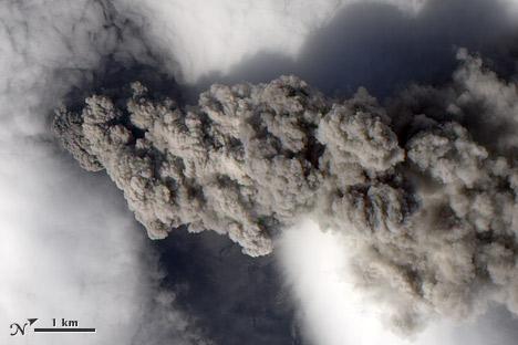 Eyjafjallajökull erupting on May 18, 2010.