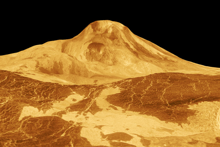 3D image of Venus's Maat Mons.