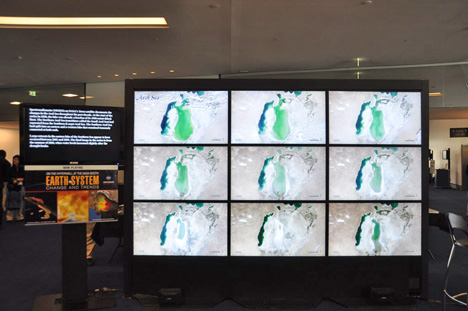 Photograph of the NASA hyperwall at ISRSE.