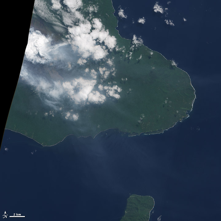 Satellite image of Ambrym Volcano.