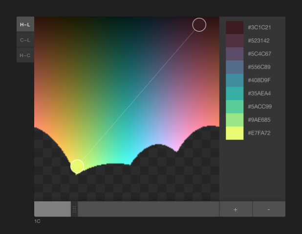 Screenshot of Tristen Brown's color picker based on chroma.js.