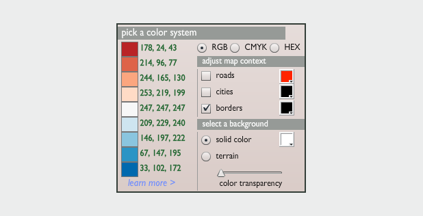 Color Brewer Red-Blue Palette