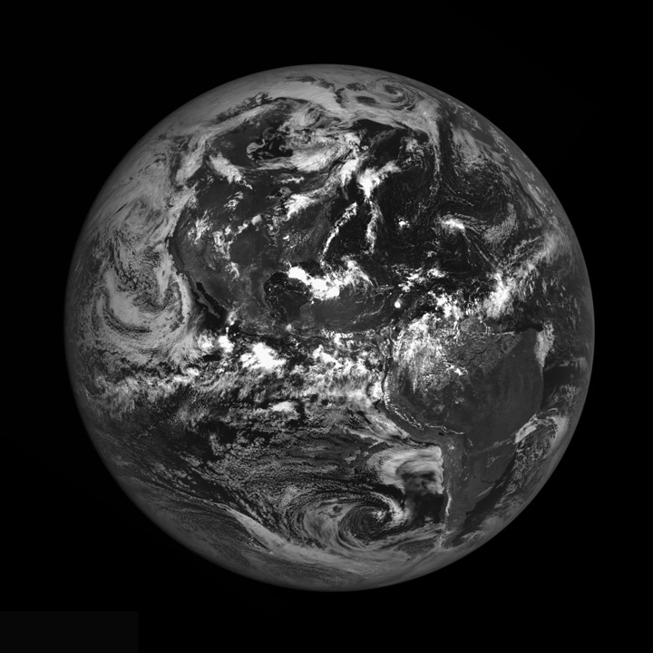 Earth from the Moon, August 9, 2010.