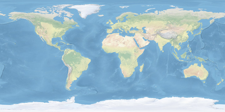 Natural Earth global map.