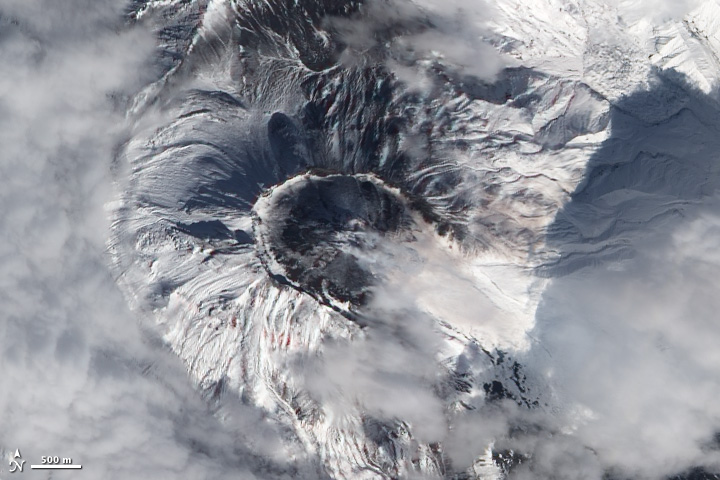 Satellite image of Bevymianny Volcano.