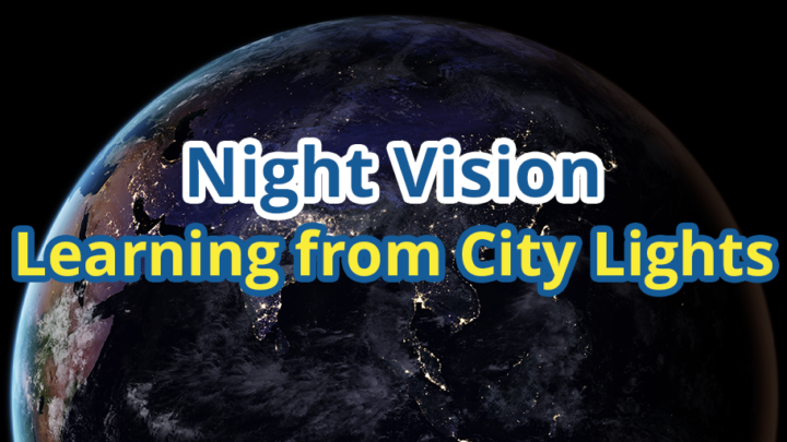 Night Vision: Learning from City Lights