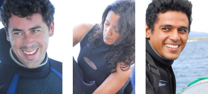 Stuart Banks, Mariana Vera and Jerson Moreno