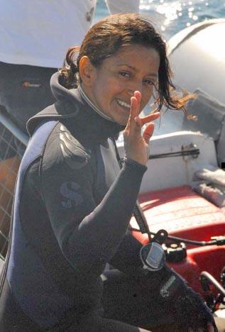 Mariana Vera in the field