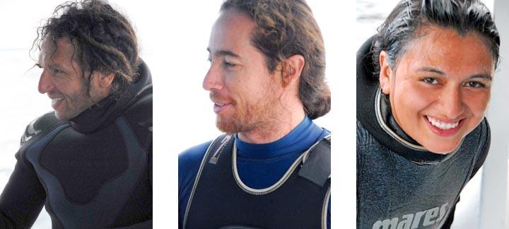 Roby Pepolas, Diego Ruiz and Nathalia Tirado