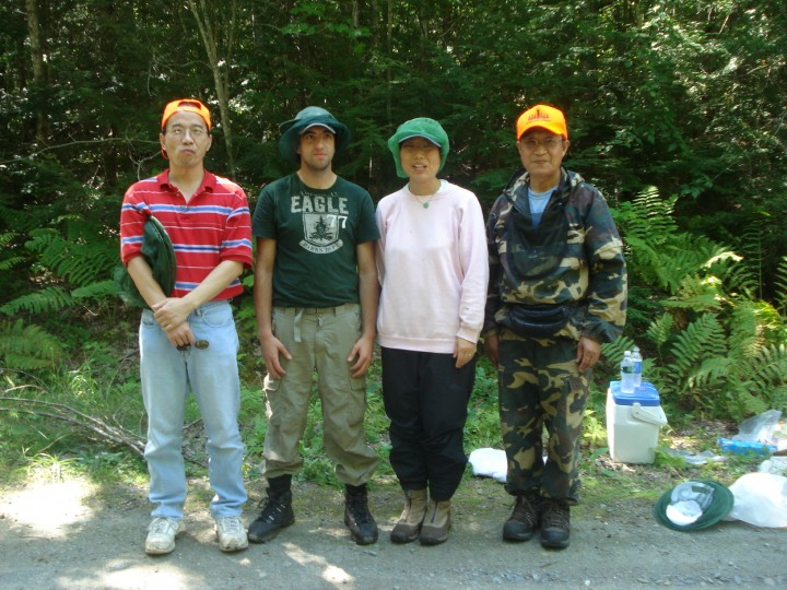 Theoretical modelers develop mathematical representations of the forest and its interaction with remote sensing signals. From left: Yong Wang, Jeremy Rubio, Wenge Ni-Meister and Guoqing Sun.  Not pictured: Sassan Saatchi.