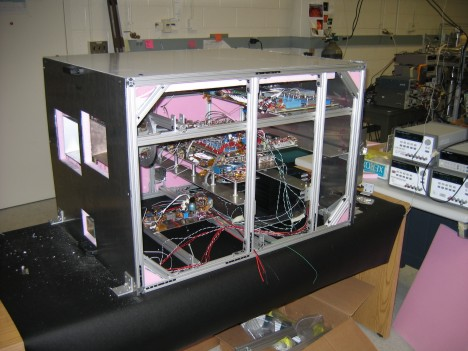 Inside view of Airborne Earth Science Microwave Imaging Radiometer