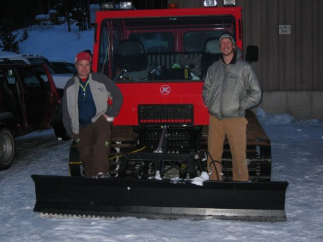 Snow cat and crew.