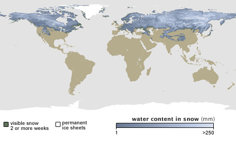 snow water equivalent march 2005