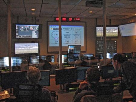 Global Hawk operations center during flight