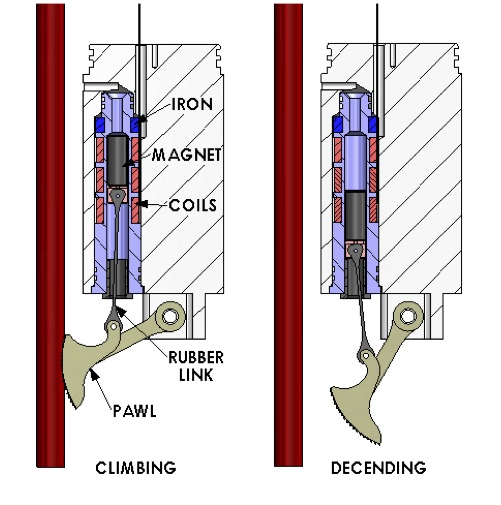 Diagram Showing The Ratchet Mechanism On Prawler That