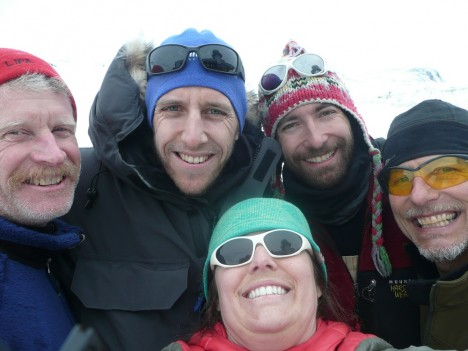 Self-portrait of the Greenland Aquifer Team members.