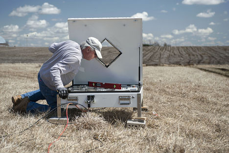 Setting up disdrometers in Iowa