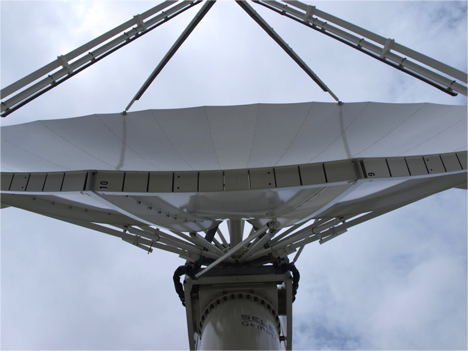 Despite a drought in 2012, the NASA NPOL radar near Waterloo has been able to capture information from multiple precipitation events in Iowa this spring. Credit: Vitek Krajewski / Iowa Flood Center