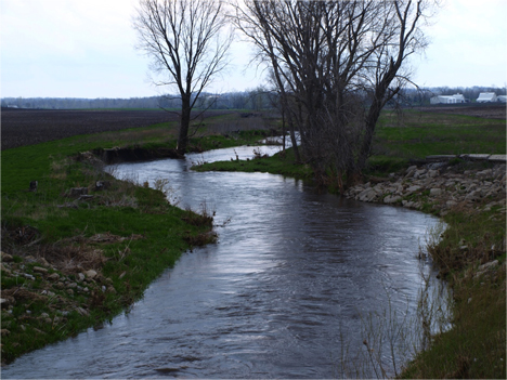 May, 2013. Many Iowa streams are bank full this spring after heavy April rain events. Credit Witold Krajewski / Iowa Flood Center