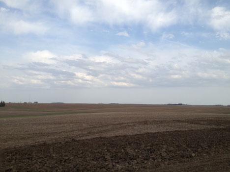 Clouds above NASA radar site inTraer Iowa