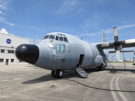 C-130 on the ramp at Wallops