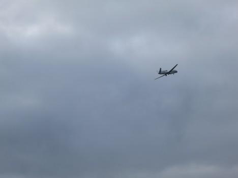 Global Hawk taking off