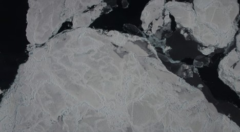 Sea ice from above