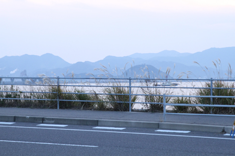 The view of mainland Kyushu from the Kitakyushu airport road near sunset, Nov. 24. Credit: NASA / Michael Starobin
