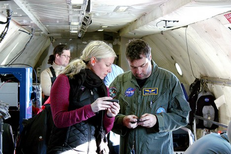 IceBridge team turning off pagers pre-flight