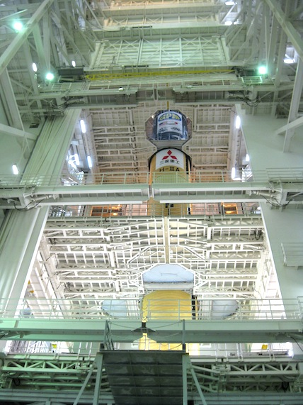 To give you a sense of size, the rocket is about 15 stories tall. Jan 20. Credit: Mitsubishi Heavy Industries
