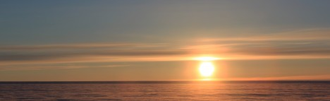 Our first pretty sunset in Greenland. In one month, we saw two of them.
