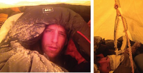 Early morning selfie! Not fully ready yet to put our cold weather gear on.