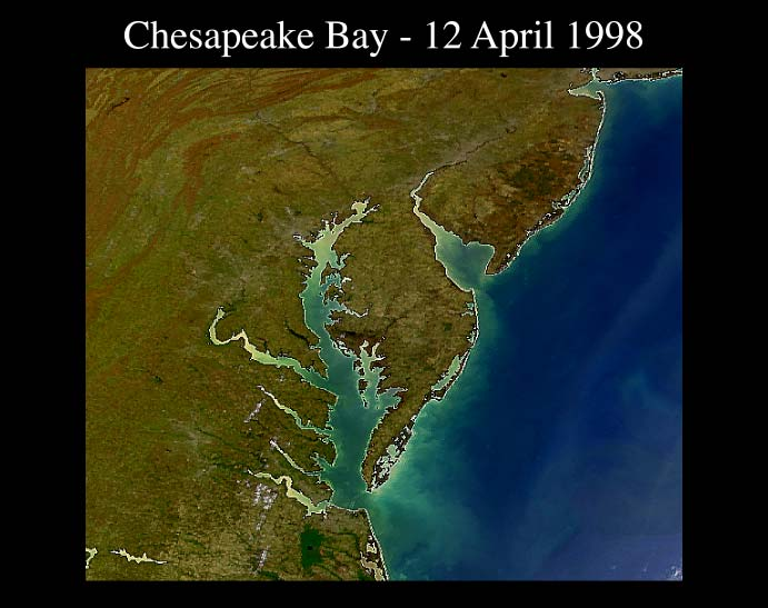 True color image of Chesapeake Bay http://oceancolor.gsfc.nasa.gov