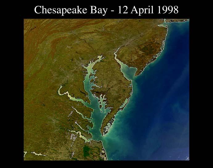 True color image of Chesapeake Bay http://oceancolor.gsfc.nasa.gov