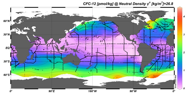 Map of global CFC measurements http://www.pmel.noaa.gov/cfc/