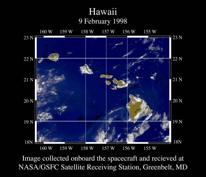 True color image of Hawaii http://oceancolor.gsfc.nasa.gov