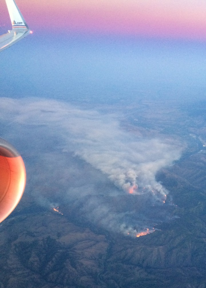 A wildfire burns in Washington, just east of the Cascades. (Credit: Kelly Brunt)