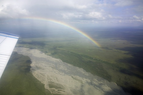Rainbow over the Tanana River. Credit: Bruce Cook/NASA's Goddard Space Flight Center
