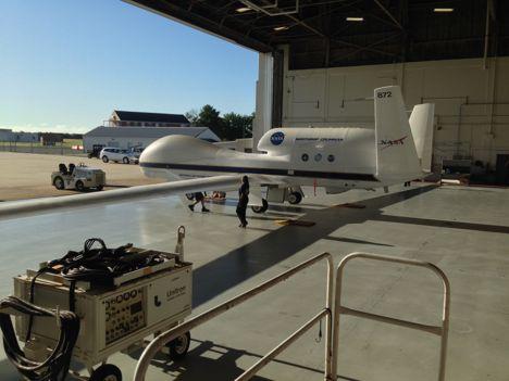 AV-6 arrives at the Wallops Flight Facility on August 27, 2014