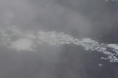 Sea ice through clouds
