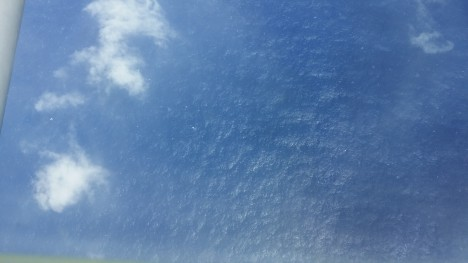 calm ocean surface in Edouard Eye, 9/15