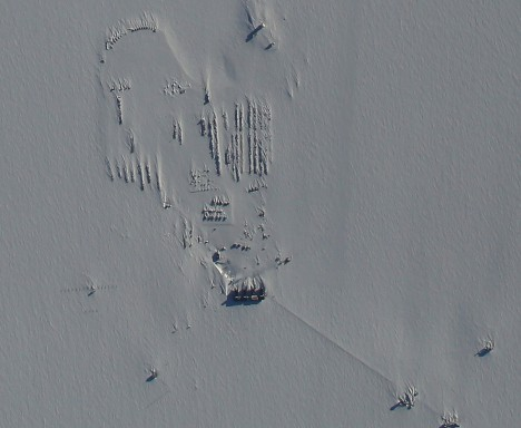 south pole station from above