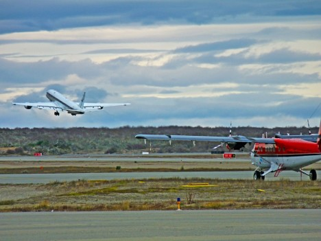 DC-8 and Twin Otter