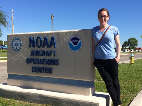 The folks at the NOAA aircraft operations center were kind enough to share some space with us for the few days we were based out of MacDill. Here, I am, exhilarated after three long, but successful, days of science flights.